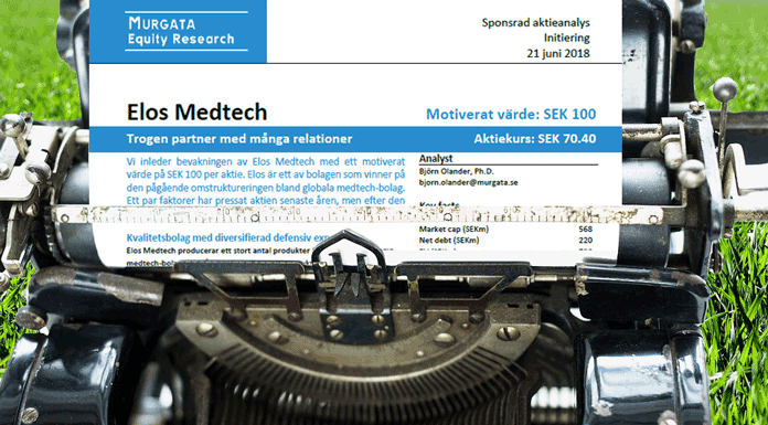 Elos Medtech: Initiation of coverage