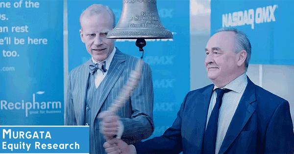 Recipharm till börsen: Klockringning av Thomas Eldered och Lars Backsell